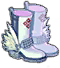 White Winged Boots Image